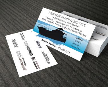 Double Sided Business Cards - Custom Design - Cape Cod Graphic Artist Darlene Billmair